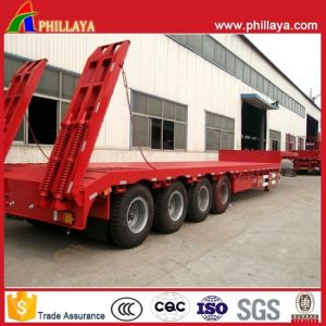 4 Axles 80tons Lowboy Lowbed Widely Used Truck Semi Trailer pictures & photos
