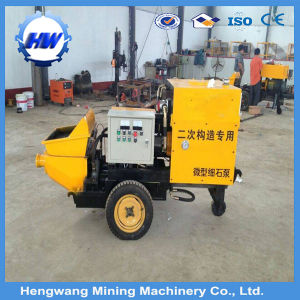 Pressure Transport Concrete Mobile Trailer Concrete Pump Automatically Working for Tunnel Construction pictures & photos
