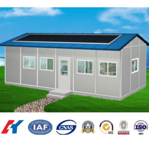 Modular Steel Structure Prefabricated House with Solar Panel pictures & photos