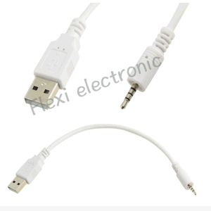 USB Male to 3.5mm Aux Data Cable pictures & photos