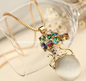 Fashion Diamond Stone Pendant Necklace (XJW12784) pictures & photos