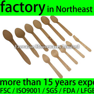 Eco-Friendly Disposable Wood Dessert Spoon