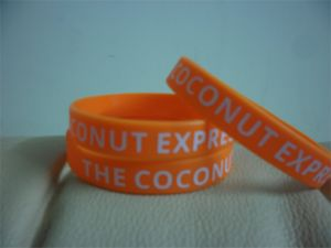 High Quality Custom Print Texture or Logo Silicone Bracelets, Wristband Silicone Bracelets for All Events P150013