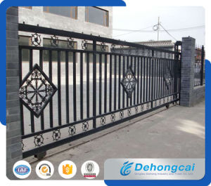 Ornamental / Decorative Practical Durable Wrought Iron Sliding Gate Works pictures & photos