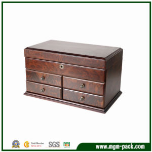 Luxury Red Storage Wooden Jewelry Storage Box pictures & photos