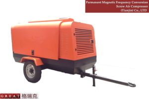 Diesel Engine Portable Screw Air Compressor pictures & photos