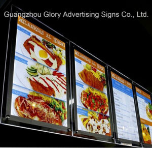 Acrylic LED Sign Menu Board/Indoor Acrylic Fast Food Menu Board pictures & photos