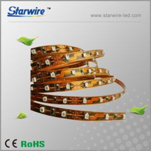 Super Bright 120LED 3528 LED Strip Light Yellow PCB 8mm pictures & photos
