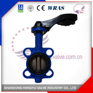Wafer Type Butterfly Valve with Aluminum Handlever pictures & photos