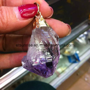 Natural Crystal Gemstone Amethyst Plating Pendant pictures & photos