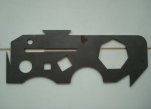 6061 Aluminum Laser Cutting Part with Black Anodize Surface Finish pictures & photos