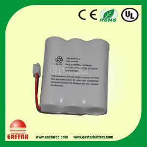 600mAh 3.6V Battery AA Size NiCd Battery Pack pictures & photos