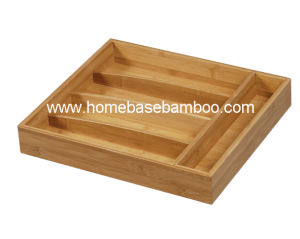 Bamboo Drawer Cutlery Utensil Tray Box Storage Organizer Kitchenware Hb2252 pictures & photos