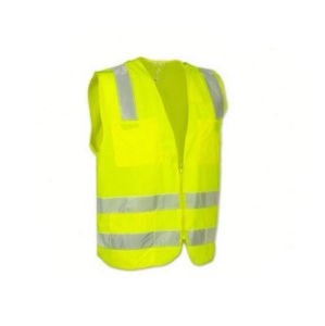 Yellow Safety Reflective Zipper Pocket Vest pictures & photos