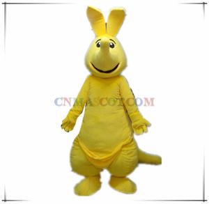 Really Funny Yellow Kangaroo Animal Mascot for Sale