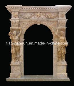 Stone Carving Door Surround, Door Frame Door Carving pictures & photos