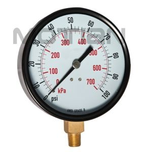 4.5 Inches Steel Case Glass Surface Pressure Gauge