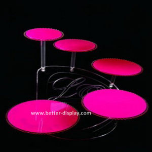 Custom Acrylic Wedding Cake Stand (BTR-K3007) pictures & photos