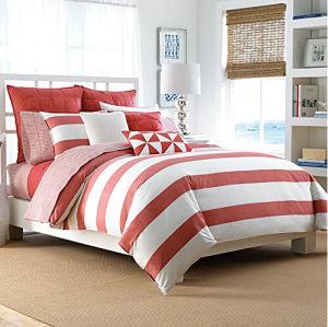 100% Cotton White Stripe Twin Duvet Set pictures & photos