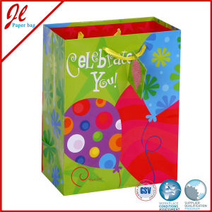 Baloon Birthday Paper Gift Bags with Satin Ribbon Handle pictures & photos