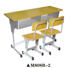 Hot Sale Two Double Seating Student Table and Chair pictures & photos