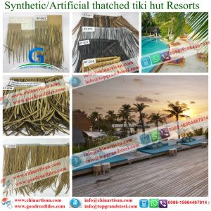 Thatching Sea House Thatched Cottage, Artificial Synthetic Thatch Roofing Tiles pictures & photos