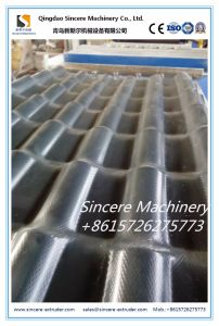 PVC+ASA Glazed House Roof Tile Line PVC Slope Corrugated Building Tile Production Line Two Layers Sheet Machinery 880 1050 pictures & photos