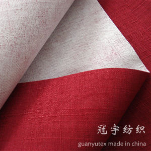 Imitation Home Textile Linen Fabric with Knitted Backing Oxford Style pictures & photos