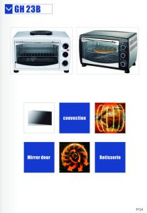 Stainless Steel Handle Home Appliance of Electric Oven with 23 Litres (GH23) pictures & photos
