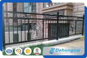 Decorative Galvanized Steel Balcony Safety Fence / Wrought Iron Balcony Balustrade pictures & photos