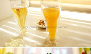 Fashionable Bar Drinkware Creative Upside Clear Beer Glass Cup