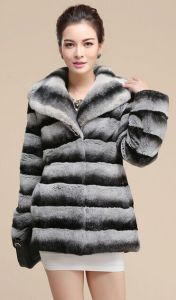 2014 Winter 100% Rex Rabbit Fur Coat, Women′s Warm Rex Fur Overcoat Dress for Russia Winter Su-14082 EMS Free Shipping pictures & photos