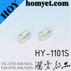 High Quality SMD Tact Switch for 3*6*4.3mm Square Button 2 Pin (HY-1101S) pictures & photos