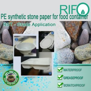 PE Synthetic Paper Rock Paper for Various Food Container/Packaging pictures & photos