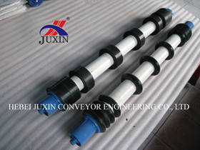 DIN Standard Impact Roller Idler with Rubber Disc for Conveyor pictures & photos