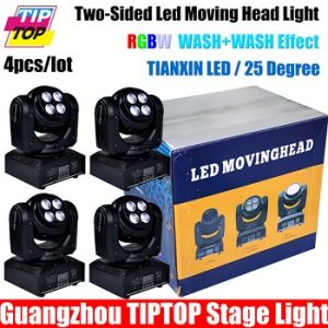 Two-Sided LED Moving Head Light 100W 8PCS 8W RGBW 4in1 Tianxin LED 4in1 X Axis 540, Y Axis Endless Rotation