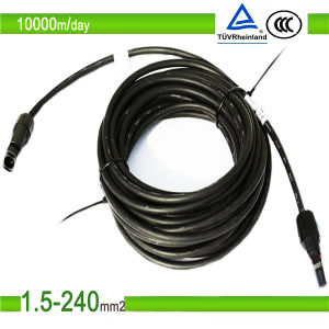 Photovoltaic TUV UL Tinned Copper PV1f PV Solar Cable 6mm2 pictures & photos