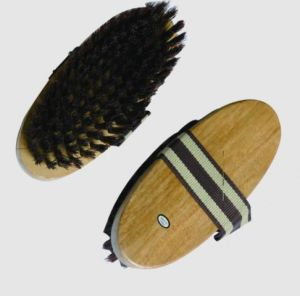 Wooden Horse Brush With Non-Slip Strap (140)