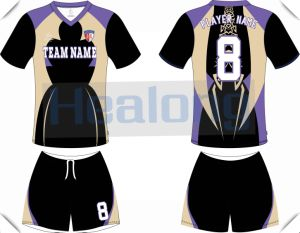 O Neck Short Sleeve Polyester Football Jersey pictures & photos