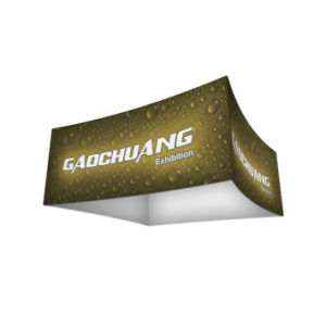Curved Square Display Hanging Sign Banner for Exhibition Stand (GC-CS) pictures & photos