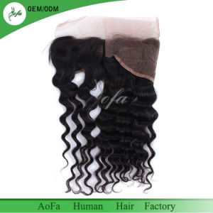 Loose Curl Brazilian Human Hair 4X13 Frontal Lace Closure pictures & photos