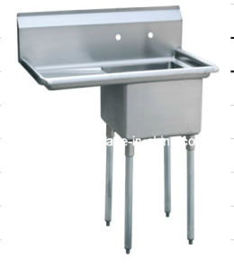 Commercial Stainless Steel One Compartment Sink (S3-181814-18L-16) pictures & photos