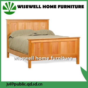 Solid Double Oak Wood Bed Full Size Bed (W-B-0025) pictures & photos