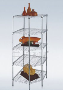 Adjustable Chrome Metal Heavy Duty Pentagon Corner Wire Rack (CJ-A1194SP) pictures & photos