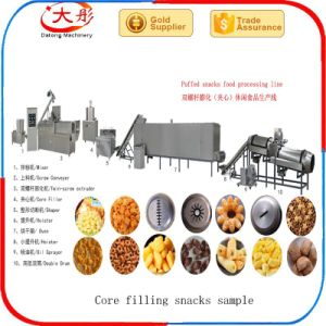 Twin Screw Core Filling Puffed Corn Snacks Food Extruder Machine pictures & photos