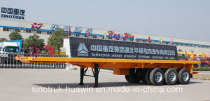 Sinotruk 3-Axle Flat Bed Semi Trailer pictures & photos