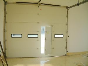 Super Larage Industrial Door with Window Viewer and Passing Door Gate pictures & photos