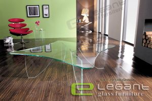 Top Moder Elegant White Glass Table -CA213 pictures & photos