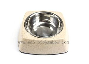 Bamboo Fiber Pet Supply Bowl (BC-PE6009) pictures & photos