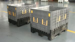Foldable Fruit and Vegetable Storage Plastic Pallet Containers Boxes 1200X1000X975 pictures & photos
